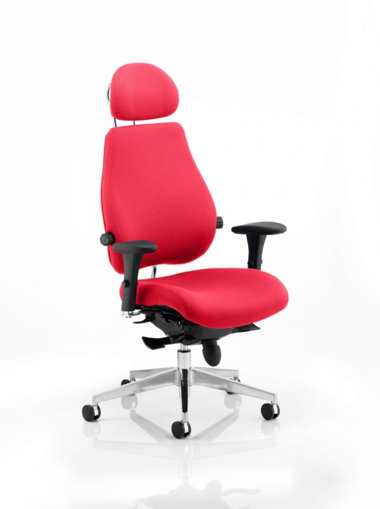 Chiro Plus Ultimate Posture Chair Sculpted Seat & Back Cushions Arms Headrest Choice of Colours